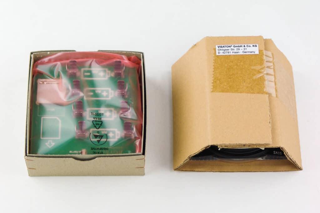 Der hörbert-Elektronikbausatz, verpackt