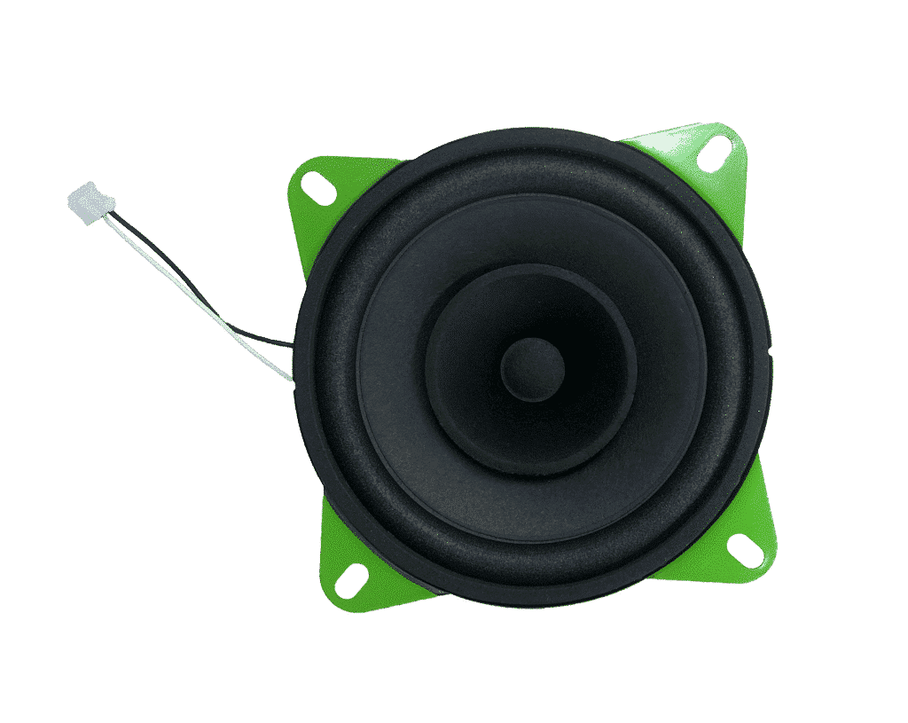 Green Visaton loudspeaker in the hörbert edition