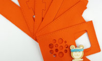 Nähset für eine hörbert-Filztasche in orange