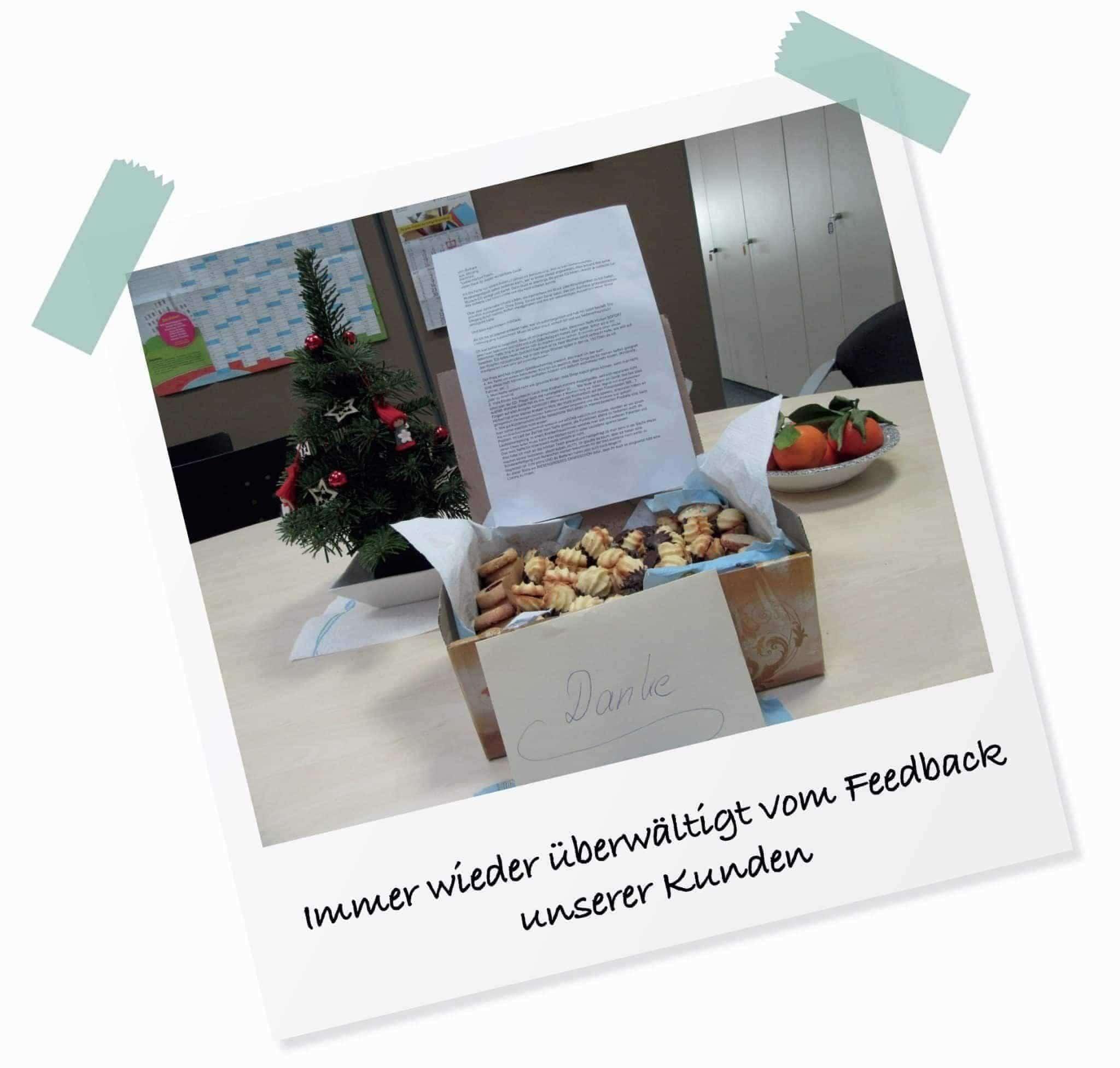 Dankeschön-Kekse für unseren Kundensupport