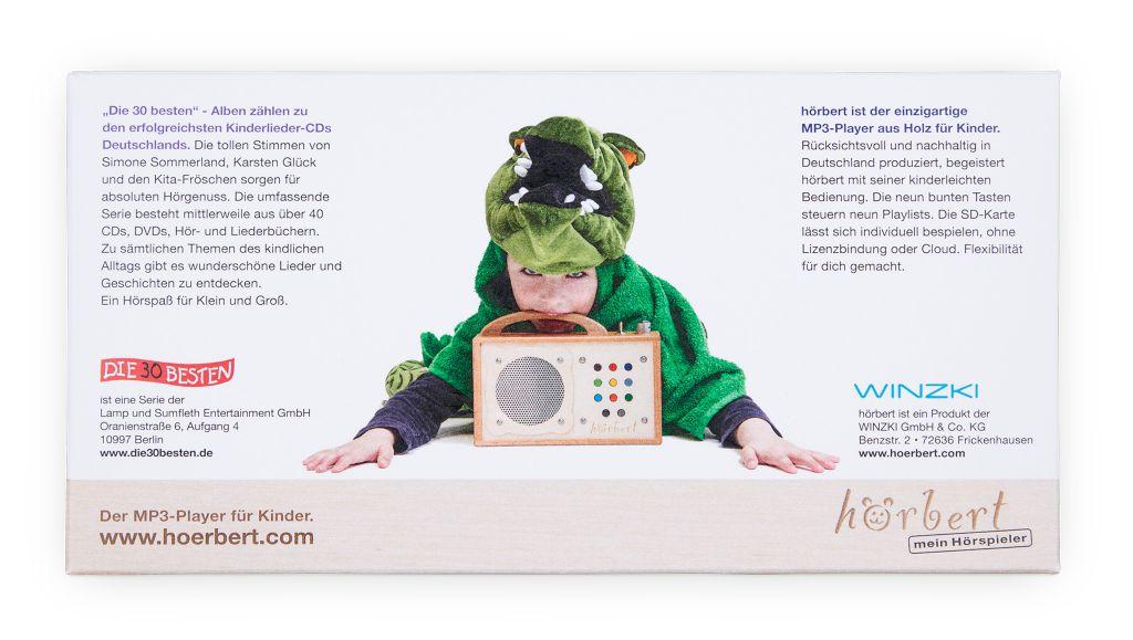 Die 30 Besten, Verpackung der Speicherkarte für hörbert