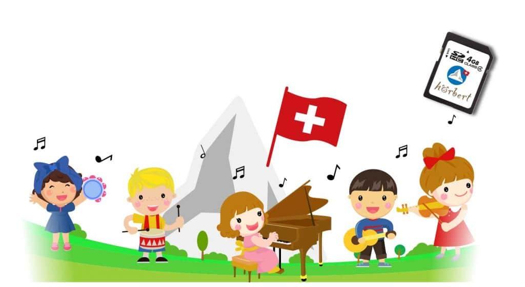 Gezeichnete Kinder musizieren