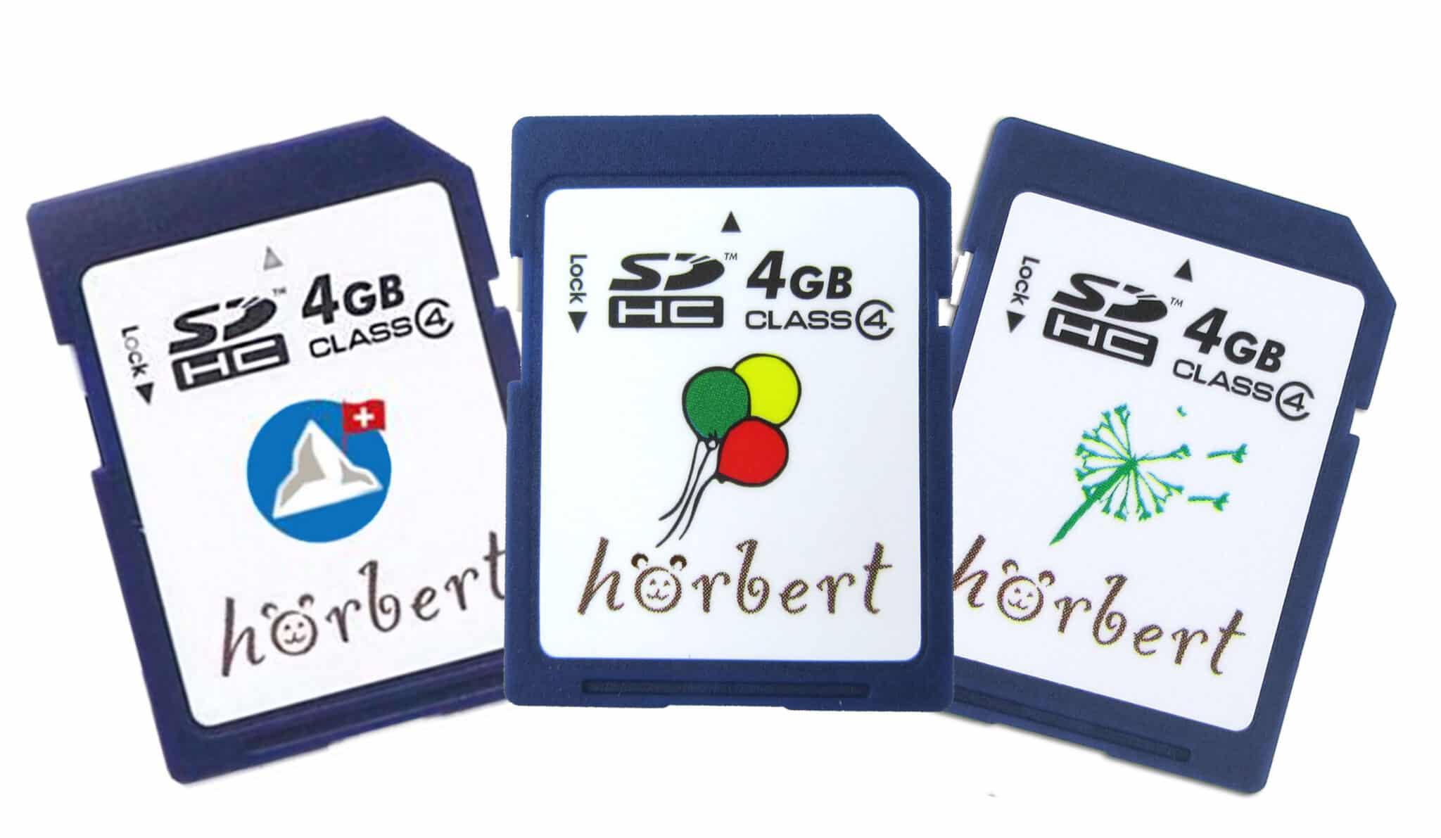 Drei Speicherkarten
