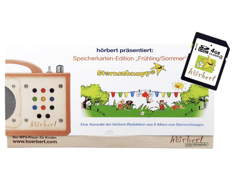 16.04.2020 - Frühlings- und Sommerlieder von Sternschnuppe – jetzt auch auf Hörbert – dem kindgerechten MP3 Player aus Holz