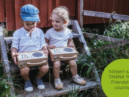 hörbert says Thank you - with the new Refer-a-Friend programme